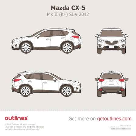 2012 Mazda CX-5 KE SUV blueprints and drawings