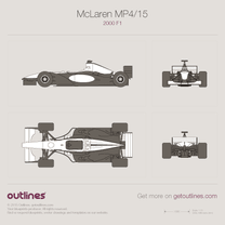 2000 McLaren MP4/15 F1 Formula blueprint