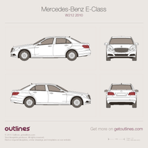 2009 Mercedes-Benz E-Class W212 Sedan blueprint