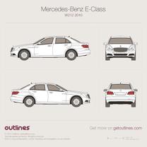 2009 Mercedes-Benz E-Class W212 Sedan blueprint