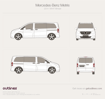 2014 Mercedes-Benz Metris W447 Minivan blueprint