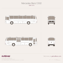 1965 Mercedes-Benz O302 Public Transport SWB Bus blueprint