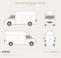 2003 Mercedes-Benz Sprinter Panel Van LWB High Roof Facelift Van blueprint