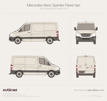 Mercedes-Benz Sprinter blueprint