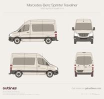 2014 Mercedes-Benz Sprinter Traveliner SWB High Roof Facelift Wagon blueprint