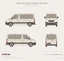 2014 Mercedes-Benz Sprinter Traveliner SWB Standard Roof Facelift Wagon blueprint