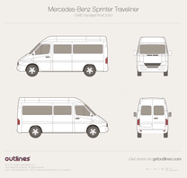 2014 Mercedes-Benz Sprinter Classic Traveliner SWB Standard Roof Wagon blueprint