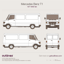 1977 Mercedes-Benz T1 MWB Van blueprint