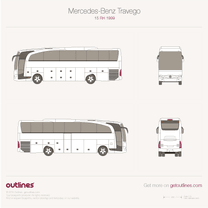 1999 Mercedes-Benz Travego 15 RH Bus blueprint