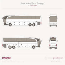 2006 Mercedes-Benz Travego RHD-L O 580 Bus blueprint