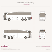 1999 Mercedes-Benz Travego M 16 RHD Bus blueprint