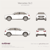 2016 Mercedes-Benz GLC-Class X253 SUV blueprint
