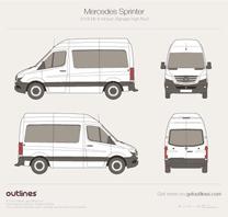 2018 Mercedes-Benz Sprinter Mk III Standart. High Roof Minivan blueprint