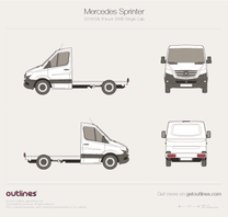2018 Mercedes-Benz Sprinter Mk III SWB Single Cab Heavy Truck blueprint