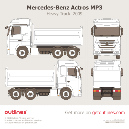 Mercedes-Benz Actros blueprint