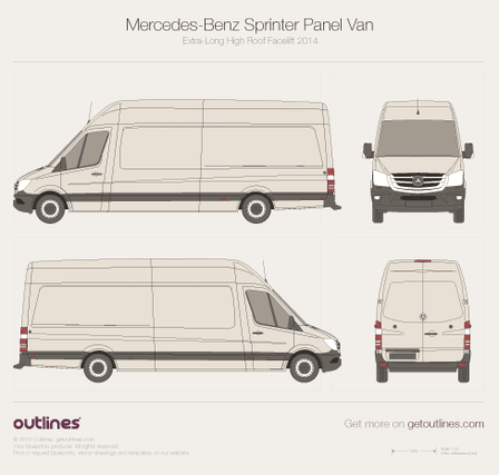 Mercedes-Benz Sprinter drawings