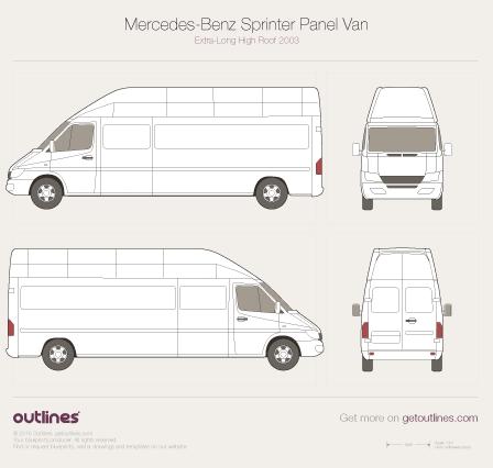 2003 Mercedes-Benz Sprinter Panel Van Van blueprints and drawings