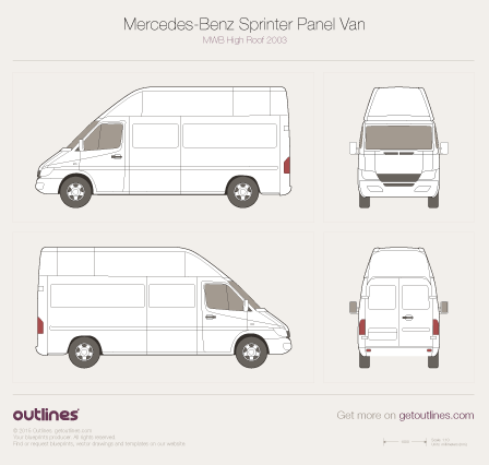 2003 Dodge Sprinter Cargo Van blueprints and drawings