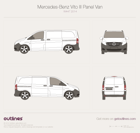 2014 Mercedes-Benz Vito W447 Panel Van Van blueprint