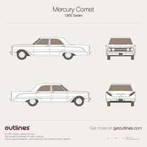 1960 Mercury Comet Sedan blueprint