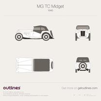 1945 MG TC Midget T-type Series + JPEG Roadster blueprint