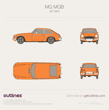 1962 MG MGB GT Coupe blueprint