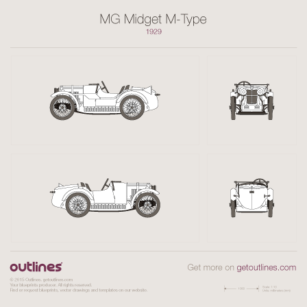 MG Midget blueprint