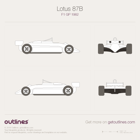 1982 Lotus 87B Formula blueprint