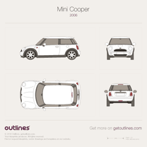 2006 Mini Cooper R56 Hatchback blueprint
