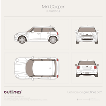 2014 Mini Cooper III F56 5-door Hatchback blueprint