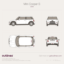 2006 Mini Cooper S R56 Hatchback blueprint