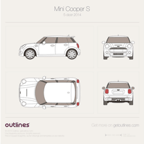2014 Mini Cooper S III F56 5-door Hatchback blueprint