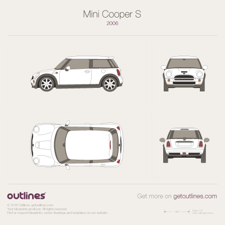 Mini Cooper S blueprint