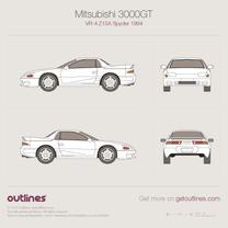1994 Mitsubishi 3000GT VR-4 Z15A Spyder Roadster blueprint