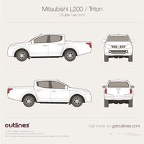 2015 Mitsubishi L200 Double Cab 4x4 Pickup Truck blueprint