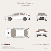 2007 Mitsubishi Lancer Evolution X Sedan blueprint