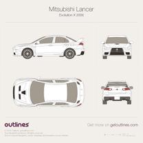 Mitsubishi Lancer blueprint