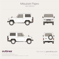 1982 Mitsubishi Pajero L040 SWB SUV blueprint