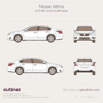 2016 Nissan Teana Sedan blueprint