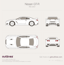 2008 Nissan GT-R R35 Coupe blueprint