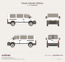 Nissan Interstar blueprint