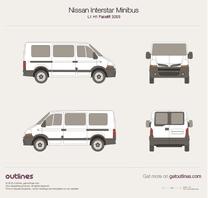 2003 Nissan Interstar Minibus L1 H1 Facelift Wagon blueprint