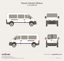 2003 Nissan Interstar Minibus L2 H2 Facelift Wagon blueprint