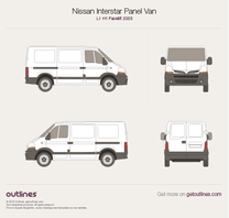 2003 Nissan Interstar Panel Van L1 H1 Facelift Van blueprint