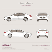2003 Nissan Maxima A34 Sedan blueprint