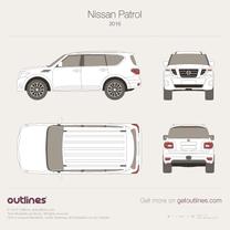 2014 Nissan Patrol SUV blueprint