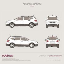 2006 Nissan Qashqai J10 SUV blueprint
