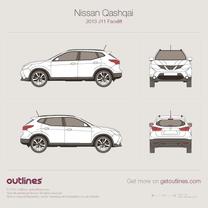 2017 Nissan Qashqai J11 Facelift SUV blueprint