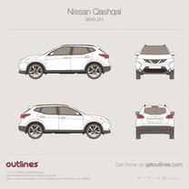 2013 Nissan Qashqai J11 SUV blueprint