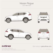 2013 Nissan Rogue SUV blueprint